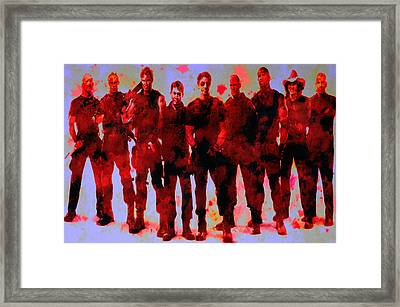 The Expendables Framed Print by Brian Reaves