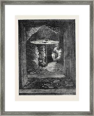 The Explorations At Jerusalem Gallery At The Golden Gate Framed Print by English School
