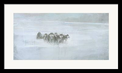 Winter Storm Paintings Framed Prints