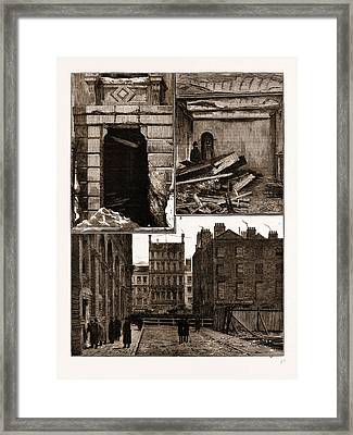 The Explosion At The Office Of The Local Government Board Framed Print