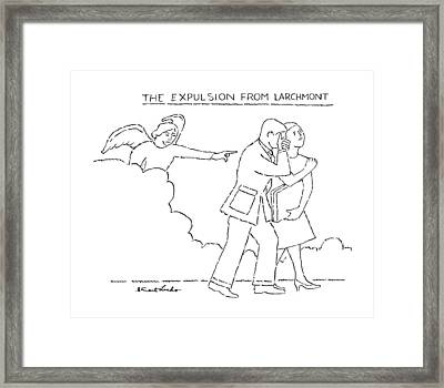 The Expulsion From Larchmont Framed Print by Stuart Leeds