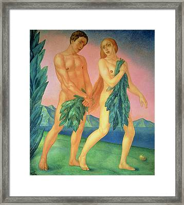 The Expulsion From Paradise Framed Print by Kuzma Sergeevich Petrov-Vodkin