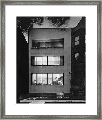The Exterior Of A Modern Townhouse Framed Print