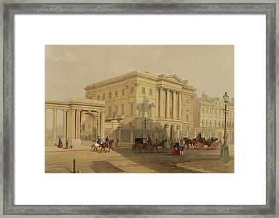 The Exterior Of Apsley House, 1853 Framed Print