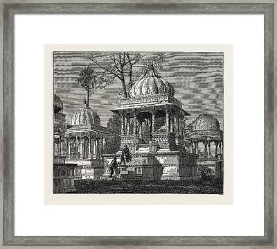 The Exterior Of The Cemetery Of Mara Sati Framed Print