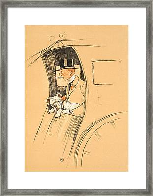 The Extra Passenger Framed Print by Cecil Charles Windsor Aldin