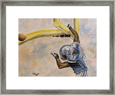 The Extra Point Framed Print