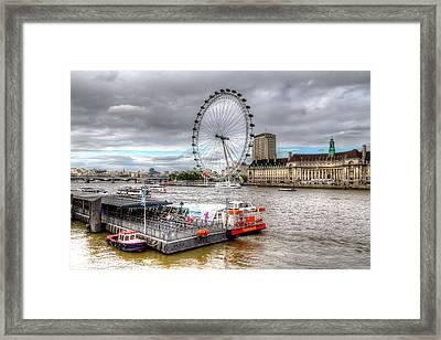 The Eye Across The Thames Framed Print