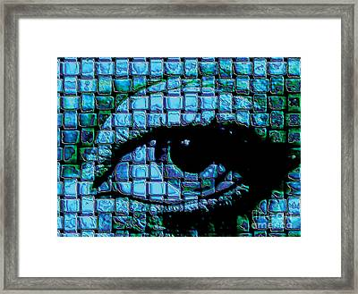 The Eye Framed Print by Galactic  Mantra
