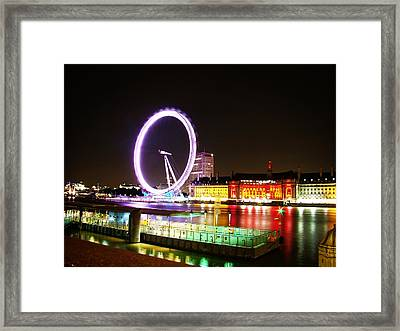 The Eye In Colors Framed Print by Zinvolle Art