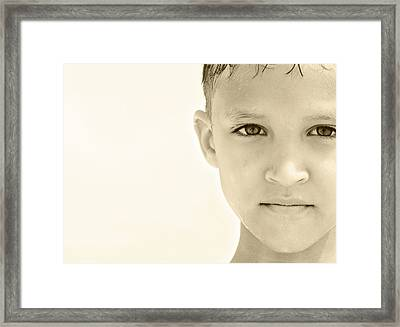 The Eye Of A Child Framed Print by Charles Beeler