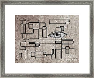 The Eye Of Big Brother Framed Print by John Malone