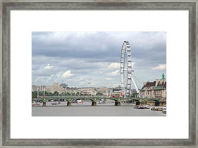 Framed Print featuring the photograph The Eye Of London by Keith Armstrong