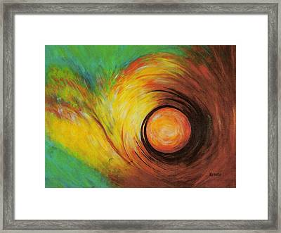 The Eye Of The Storm..... Framed Print by Renate Dartois
