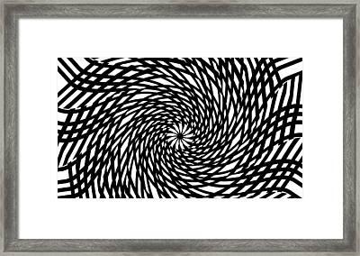 The Eye Of The Storm Framed Print by Steve K