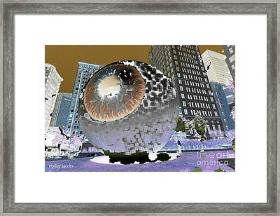 The Eyes 11 Framed Print by Holley Jacobs