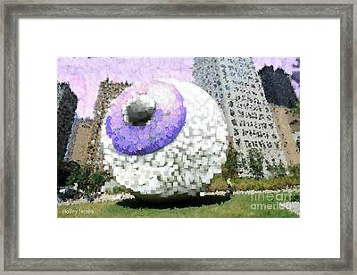 The Eyes 16 Framed Print by Holley Jacobs