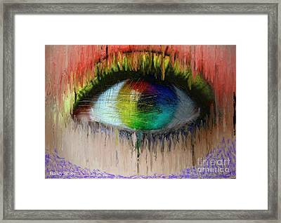 The Eyes 2 Framed Print by Holley Jacobs