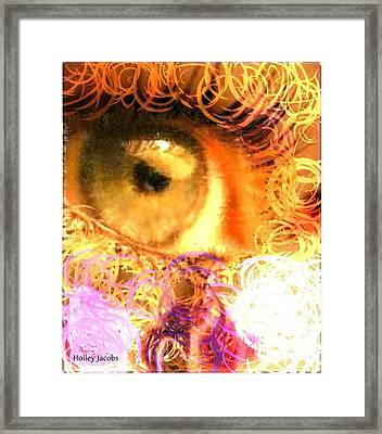 The Eyes 4 Framed Print by Holley Jacobs