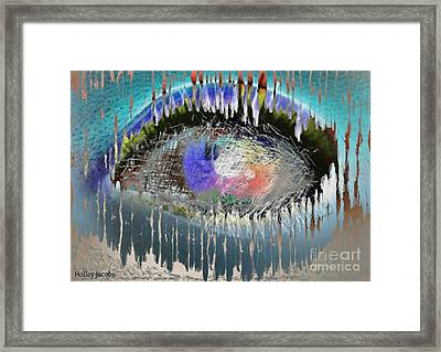 The Eyes 5 Framed Print by Holley Jacobs