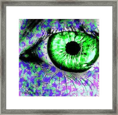 The Eyes 8 Framed Print by Holley Jacobs