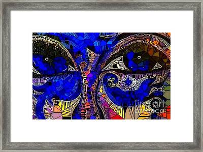 The Eyes Have It. 1 Mosaic Framed Print by Saundra Myles
