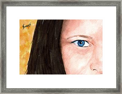 The Eyes Have It - Bonni Framed Print by Sam Sidders