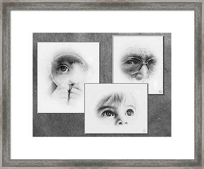 The Eyes Have It Framed Print by Gun Legler