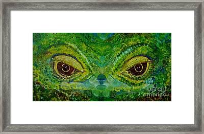 The Eyes Have It Framed Print by Julie Brugh Riffey