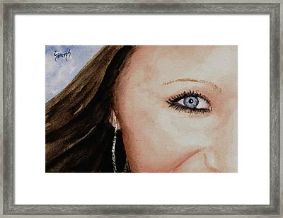 The Eyes Have It - Mckayla Framed Print by Sam Sidders