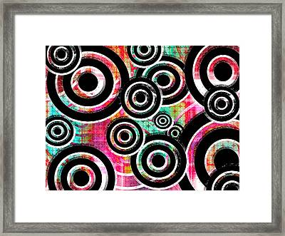The Eyes Have It - Rainbow Version Framed Print by Shawna Rowe
