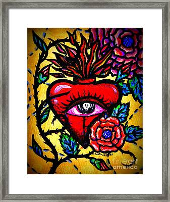 The Eyes Of A Heart By Laura Gomez Framed Print by Laura  Gomez
