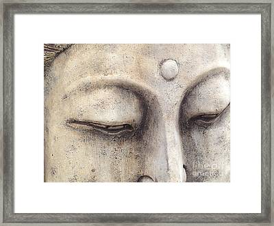 The Eyes Of Buddah Framed Print