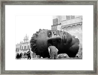 The Eyes Of Eros Framed Print by Robert Lacy
