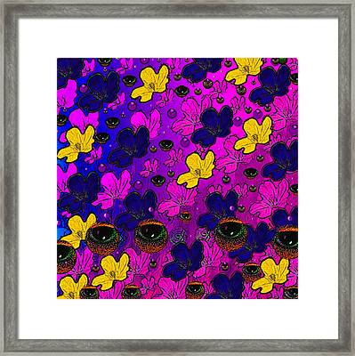 The Eyes Of Mother Nature Serve And Protect Framed Print by Pepita Selles