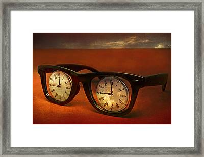 The Eyes Of Time Framed Print