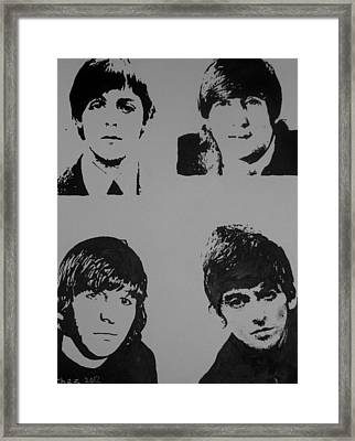 Framed Print featuring the painting The Fab Four by Cherise Foster