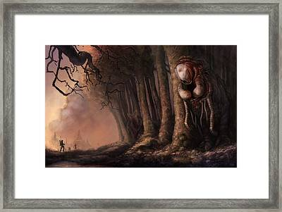 The Fabled Giant Women Of The Woods Framed Print by Ethan Harris