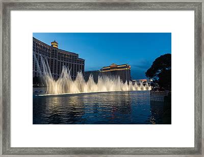 The Fabulous Fountains At Bellagio - Las Vegas Framed Print by Georgia Mizuleva