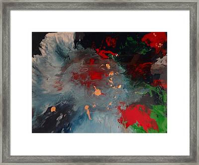The Fabulous Space History Of My Soul In The Galaxy Framed Print by Jean-francois Suys