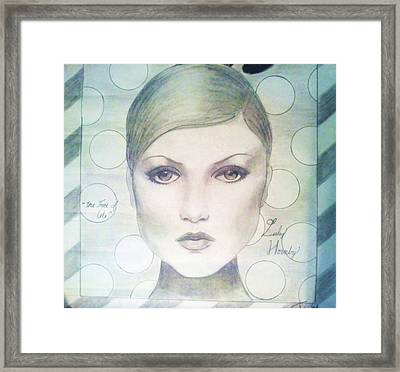 The Face Of 66' Framed Print by Megan Jenkins