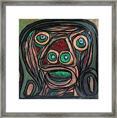 The Face Of Adam Framed Print by Darrell Black