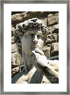 The Face Of David Framed Print