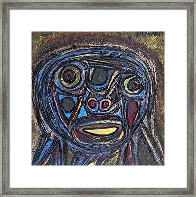The Face Of Eve Framed Print by Darrell Black