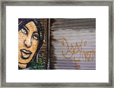 The Face Of Graffiti Framed Print