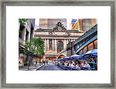 The Face Of Grand Central Terminal Framed Print by Diana Angstadt