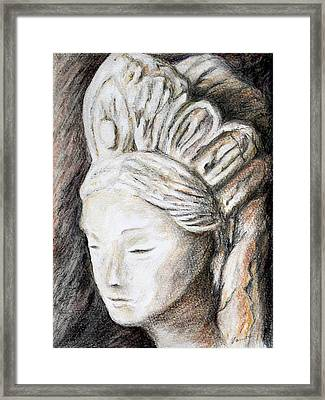 The Face Of Quan Yin Framed Print