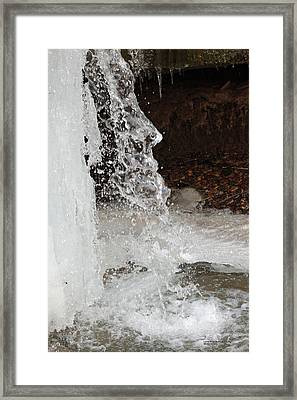 Framed Print featuring the digital art The Face Of Winter by Lorna Rogers Photography
