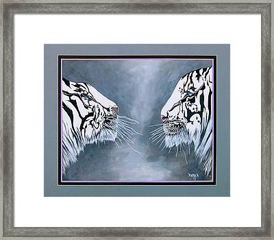 The Face Off Framed Print by Andrea Camp