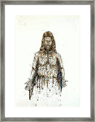 The Faces Of  Body Of Jesus Christ Framed Print by Thomas Lentz